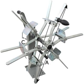 パラソル巻き取り機(RAPID) 寸法図