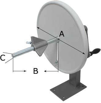 ボビン巻き取り機(TIS450) 寸法図